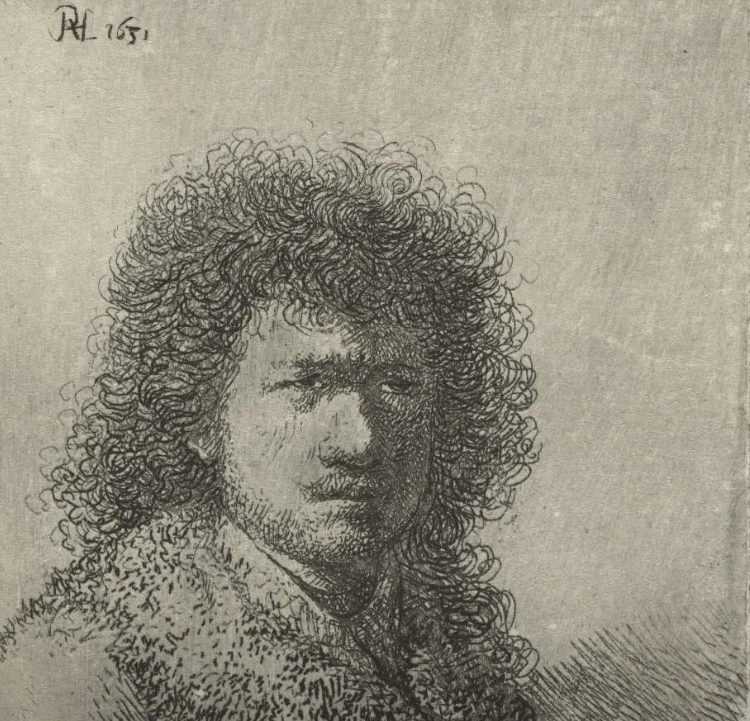Selfie by Rembrandt van RIjn , Rijks Museum online collection