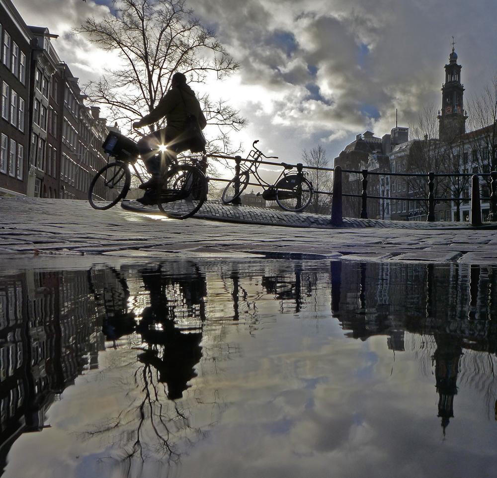Cyclist, David de Leeuw Amsterdam 2015