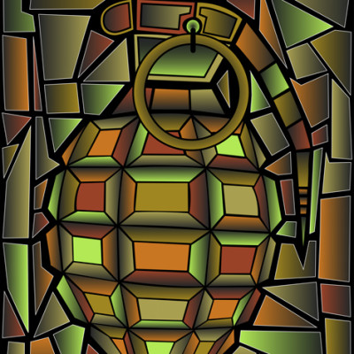 Grenade 2 -limited edition Dibond print 01/10 Size: 80x100 cm Rent: 25,- € p/m Buy: 800,- €