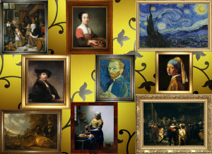Pochemuchka Design for Zart: collage on dibond - Dutch Masters