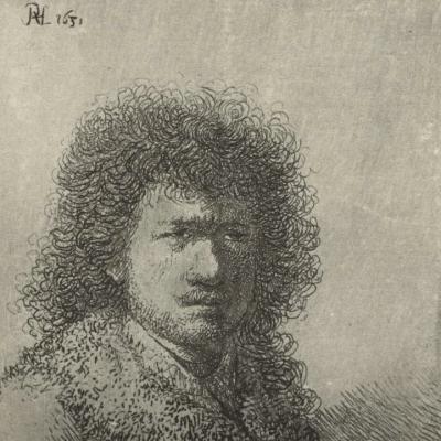 Selfie by Rembrandt van RIjn , Rijks Museum online collection