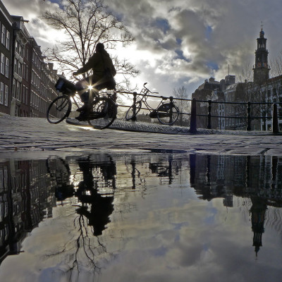 Cyclist: after photoshop