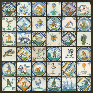 Antique Dutch tiles get a new life in this print on dibond