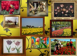 Pochemuchka Design for Zart: collage on dibond- Tulips